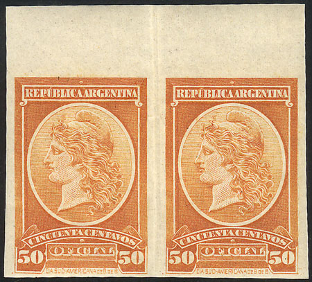 Lot 34 - Argentina official stamps -  Guillermo Jalil - Philatino Auction #1939 ARGENTINA - OFFICIAL STAMPS - 116 RARE LOTS 116