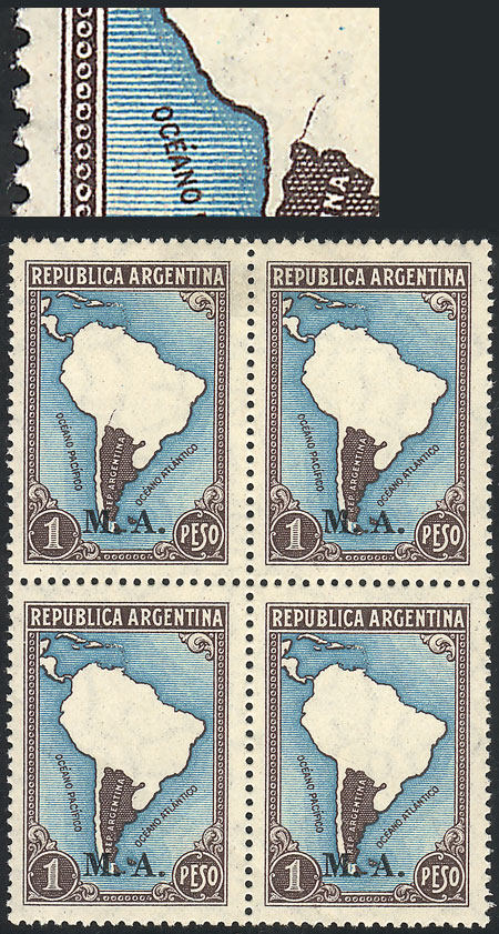 Lot 40 - Argentina official stamps -  Guillermo Jalil - Philatino Auction #1939 ARGENTINA - OFFICIAL STAMPS - 116 RARE LOTS 116