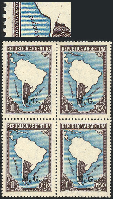 Lot 49 - Argentina official stamps -  Guillermo Jalil - Philatino Auction #1939 ARGENTINA - OFFICIAL STAMPS - 116 RARE LOTS 116