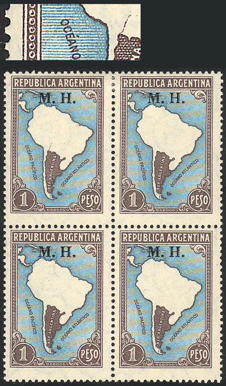Lot 56 - Argentina official stamps -  Guillermo Jalil - Philatino Auction #1939 ARGENTINA - OFFICIAL STAMPS - 116 RARE LOTS 116