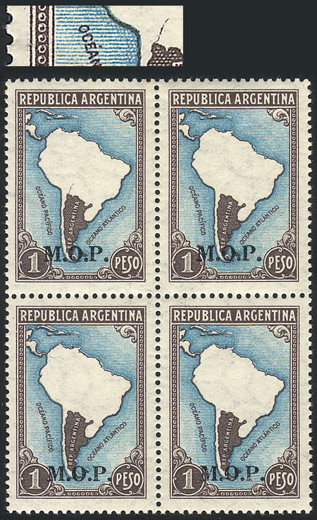 Lot 91 - Argentina official stamps -  Guillermo Jalil - Philatino Auction #1939 ARGENTINA - OFFICIAL STAMPS - 116 RARE LOTS 116