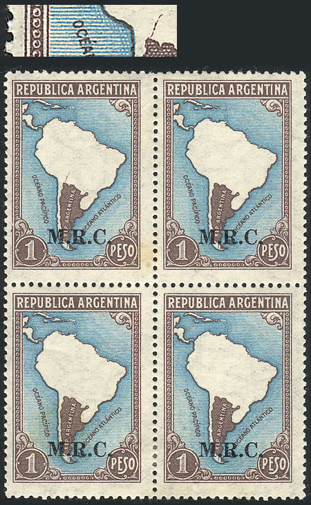 Lot 95 - Argentina official stamps -  Guillermo Jalil - Philatino Auction #1939 ARGENTINA - OFFICIAL STAMPS - 116 RARE LOTS 116