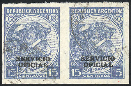 Lot 96 - Argentina official stamps -  Guillermo Jalil - Philatino Auction #1939 ARGENTINA - OFFICIAL STAMPS - 116 RARE LOTS 116