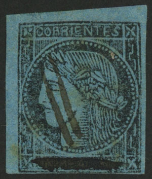 Lot 13 - Argentina corrientes -  Guillermo Jalil - Philatino Auction #1940 ARGENTINA: