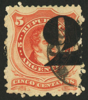 Lot 84 - Argentina general issues -  Guillermo Jalil - Philatino Auction #1940 ARGENTINA: