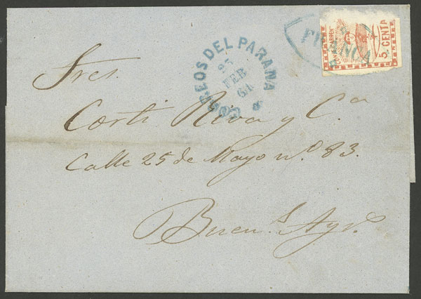 Lot 22 - Argentina confederation -  Guillermo Jalil - Philatino Auction #1940 ARGENTINA: