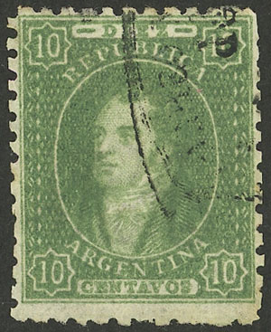 Lot 42 - Argentina rivadavias -  Guillermo Jalil - Philatino Auction #1940 ARGENTINA: