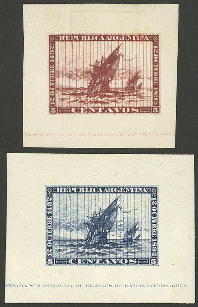 Lot 101 - Argentina general issues -  Guillermo Jalil - Philatino Auction #1941 ARGENTINA: Special November auction