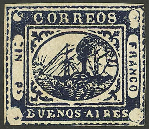 Lot 7 - Argentina barquitos -  Guillermo Jalil - Philatino Auction #1941 ARGENTINA: Special November auction