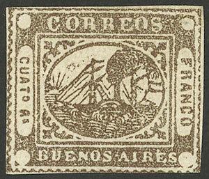 Lot 3 - Argentina barquitos -  Guillermo Jalil - Philatino Auction #1941 ARGENTINA: Special November auction