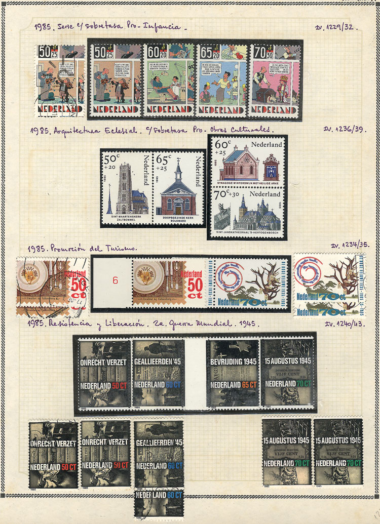 Lot 921 - Netherlands Lots and Collections -  Guillermo Jalil - Philatino Auction #1942  WORLDWIDE + ARGENTINA: General October auction