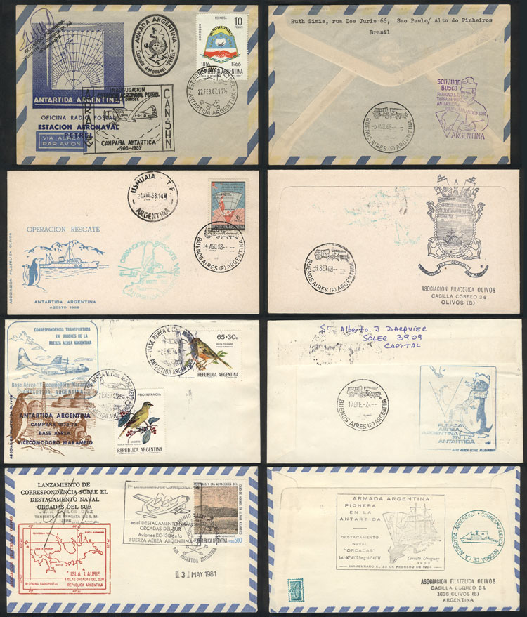Lot 77 - argentine antarctica postal history -  Guillermo Jalil - Philatino Auction #1942  WORLDWIDE + ARGENTINA: General October auction
