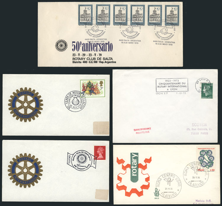 Lot 12 - topic rotary Lots and Collections -  Guillermo Jalil - Philatino Auction #1942  WORLDWIDE + ARGENTINA: General October auction