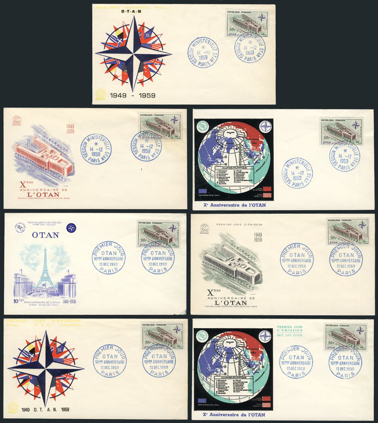 Lot 7 - topic nato (otan) Lots and Collections -  Guillermo Jalil - Philatino Auction #1942  WORLDWIDE + ARGENTINA: General October auction