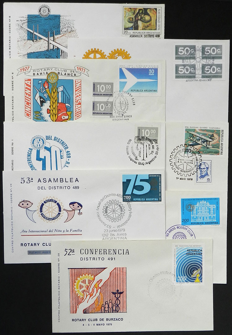 Lot 25 - topic rotary Lots and Collections -  Guillermo Jalil - Philatino Auction #1942  WORLDWIDE + ARGENTINA: General October auction