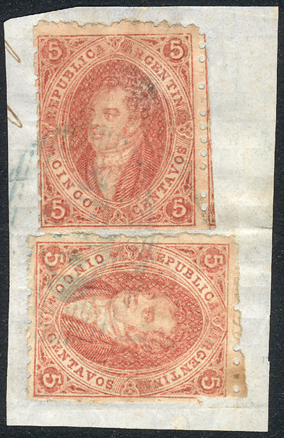 Lot 101 - Argentina rivadavias -  Guillermo Jalil - Philatino Auction #1942  WORLDWIDE + ARGENTINA: General October auction
