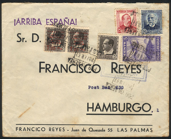 Lot 800 - Spain postal history -  Guillermo Jalil - Philatino Auction #1942  WORLDWIDE + ARGENTINA: General October auction