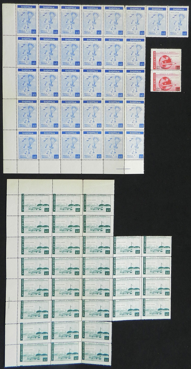 Lot 34 - Albania Lots and Collections -  Guillermo Jalil - Philatino Auction #1942  WORLDWIDE + ARGENTINA: General October auction