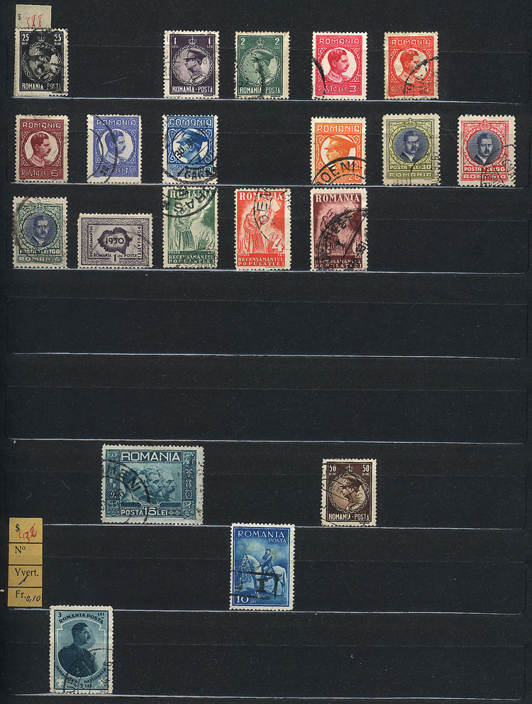 Lot 1289 - Romania Lots and Collections -  Guillermo Jalil - Philatino Auction #1942  WORLDWIDE + ARGENTINA: General October auction