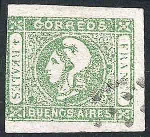 Lot 12 - Argentina cabecitas -  Guillermo Jalil - Philatino Auction #1943 ARGENTINA: