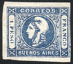 Lot 14 - Argentina cabecitas -  Guillermo Jalil - Philatino Auction #1943 ARGENTINA: