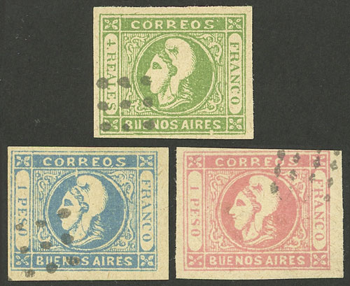 Lot 18 - Argentina cabecitas -  Guillermo Jalil - Philatino Auction #1943 ARGENTINA: