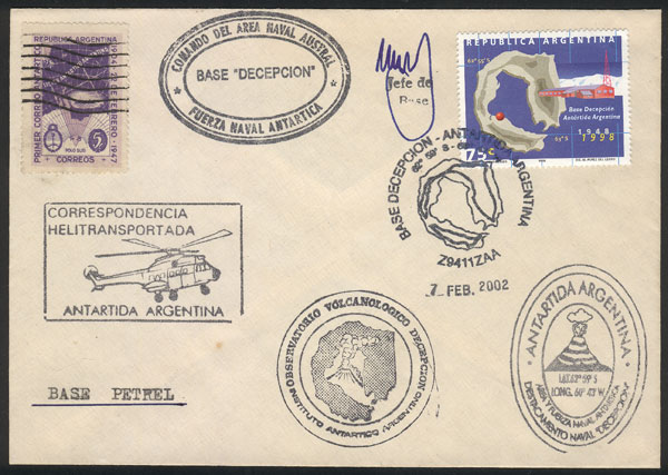 Lot 5 - argentina antarctica postal history -  Guillermo Jalil - Philatino Auction #1943 ARGENTINA: