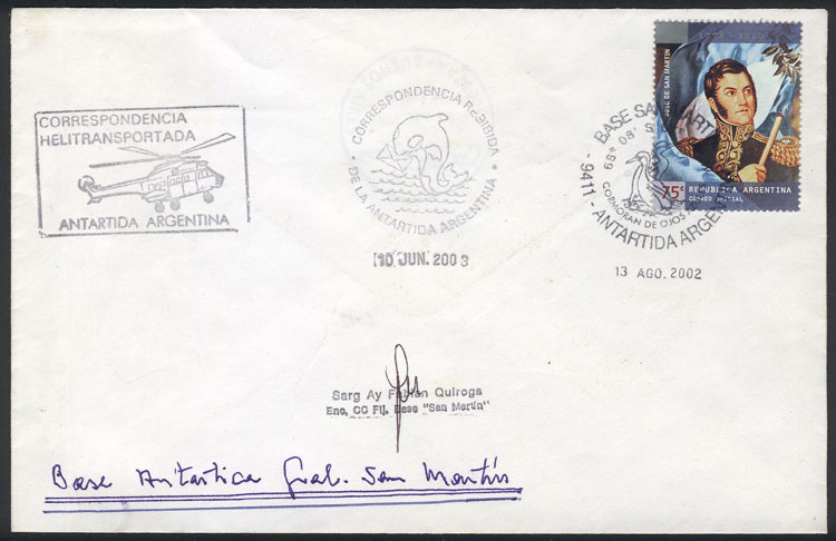 Lot 6 - argentine antarctica postal history -  Guillermo Jalil - Philatino Auction #1943 ARGENTINA: