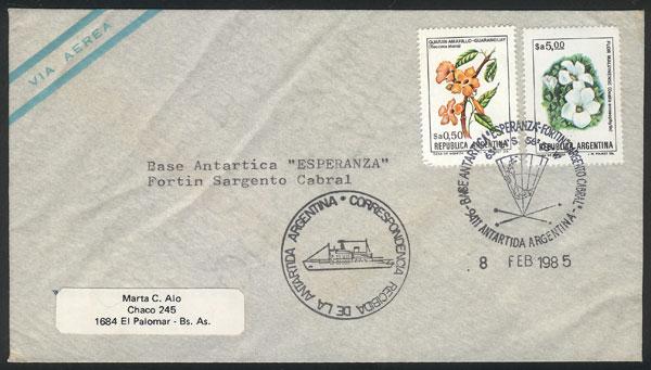 Lot 2 - argentine antarctica postal history -  Guillermo Jalil - Philatino Auction #1943 ARGENTINA: