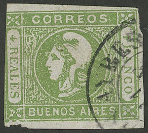 Lot 13 - Argentina cabecitas -  Guillermo Jalil - Philatino Auction #1943 ARGENTINA: