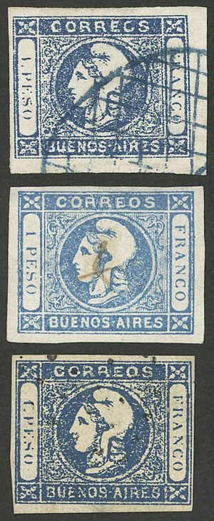 Lot 15 - Argentina cabecitas -  Guillermo Jalil - Philatino Auction #1943 ARGENTINA: