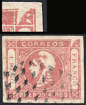 Lot 17 - Argentina cabecitas -  Guillermo Jalil - Philatino Auction #1943 ARGENTINA: