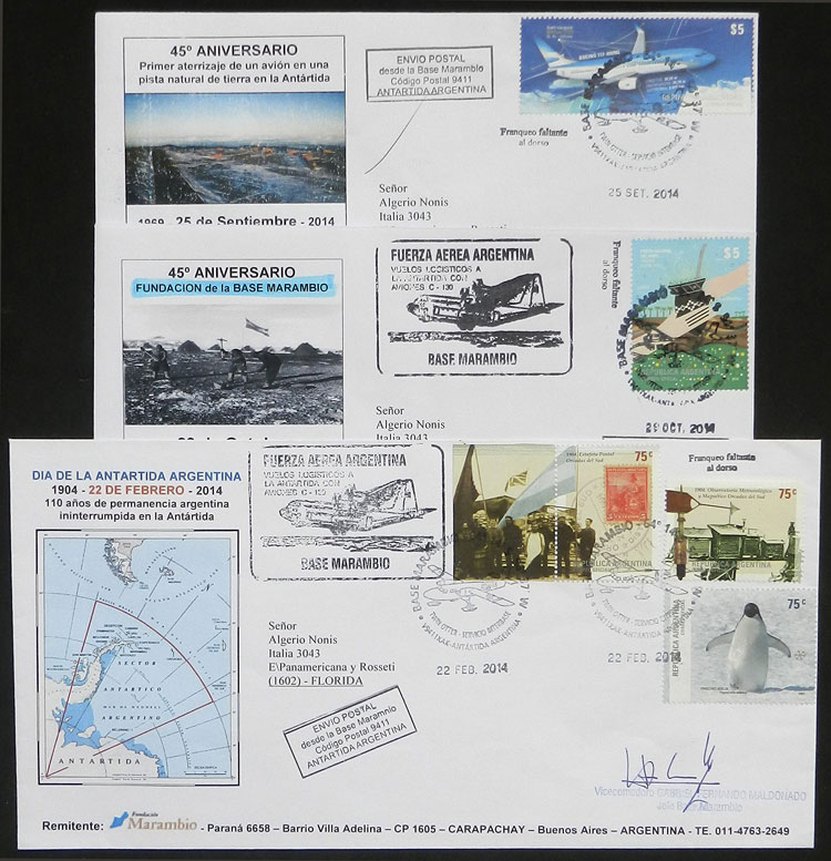 Lot 7 - argentine antarctica postal history -  Guillermo Jalil - Philatino Auction #1943 ARGENTINA: