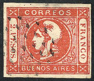 Lot 16 - Argentina cabecitas -  Guillermo Jalil - Philatino Auction #1943 ARGENTINA: