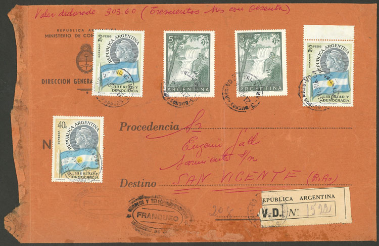 Lot 845 - Argentina postal history -  Guillermo Jalil - Philatino Auction #1945 ARGENTINA: