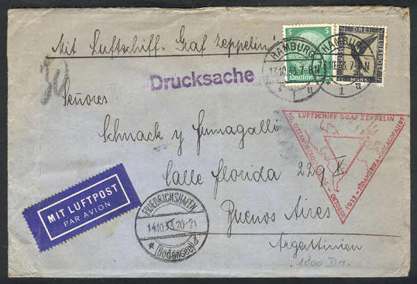 Lot 21 - germany postal history -  Guillermo Jalil - Philatino Auction #1946 WORLDWIDE POSTAL HISTORY, COVERS AND CARDS
