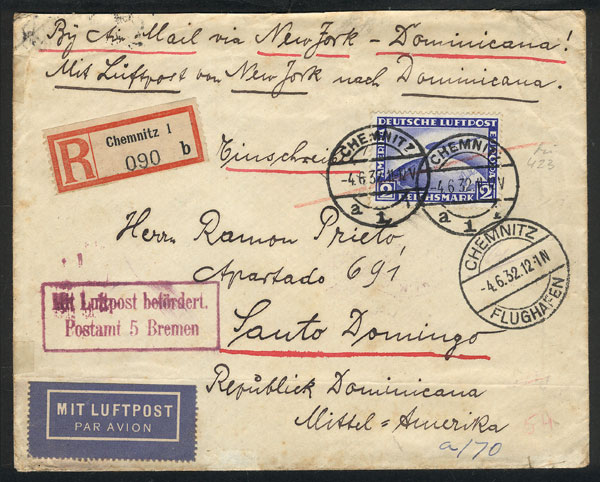 Lot 17 - germany postal history -  Guillermo Jalil - Philatino Auction #1946 WORLDWIDE POSTAL HISTORY, COVERS AND CARDS