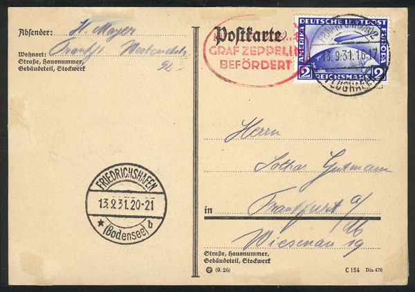 Lot 14 - germany postal history -  Guillermo Jalil - Philatino Auction #1946 WORLDWIDE POSTAL HISTORY, COVERS AND CARDS