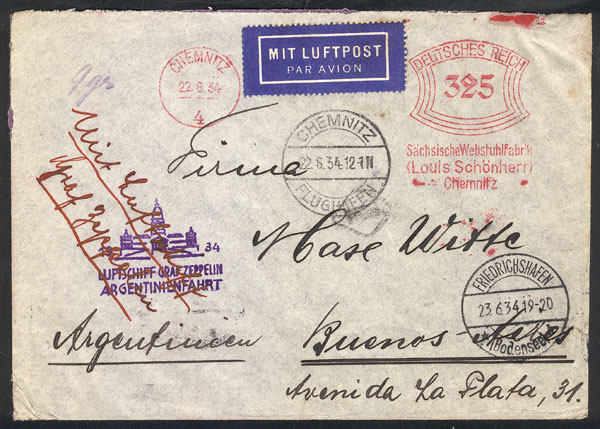 Lot 24 - germany postal history -  Guillermo Jalil - Philatino Auction #1946 WORLDWIDE POSTAL HISTORY, COVERS AND CARDS