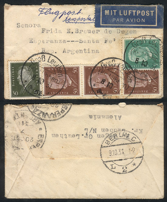 Lot 15 - germany postal history -  Guillermo Jalil - Philatino Auction #1946 WORLDWIDE POSTAL HISTORY, COVERS AND CARDS