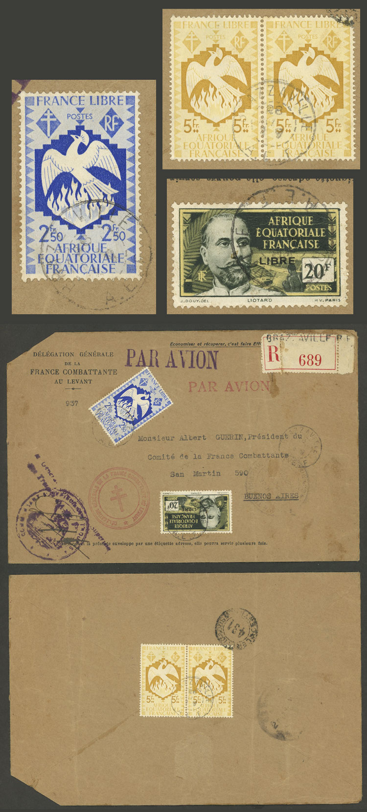 Lot 5 - French Equatorial Africa postal history -  Guillermo Jalil - Philatino Auction #1946 WORLDWIDE POSTAL HISTORY, COVERS AND CARDS