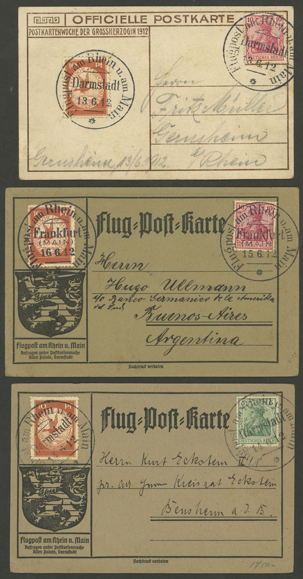 Lot 7 - germany postal history -  Guillermo Jalil - Philatino Auction #1946 WORLDWIDE POSTAL HISTORY, COVERS AND CARDS