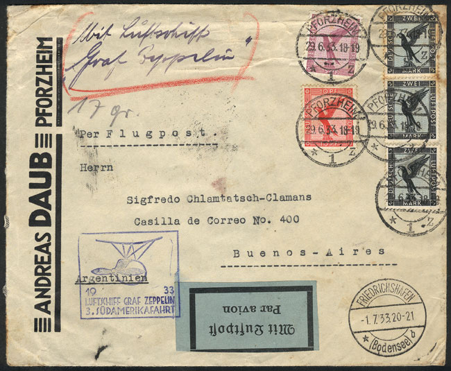 Lot 20 - germany postal history -  Guillermo Jalil - Philatino Auction #1946 WORLDWIDE POSTAL HISTORY, COVERS AND CARDS