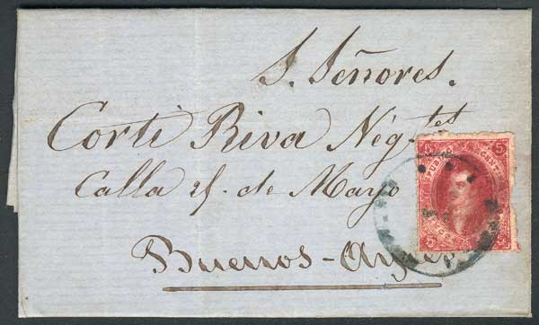 Lot 85 - Argentina rivadavias -  Guillermo Jalil - Philatino Auction #1946 WORLDWIDE POSTAL HISTORY, COVERS AND CARDS