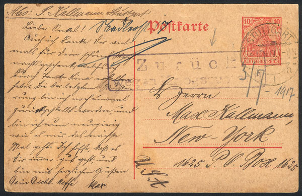 Lot 8 - germany postal history -  Guillermo Jalil - Philatino Auction #1946 WORLDWIDE POSTAL HISTORY, COVERS AND CARDS