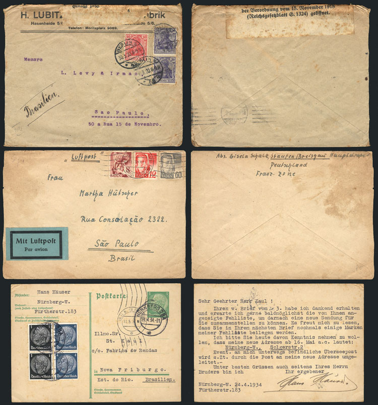 Lot 9 - germany postal history -  Guillermo Jalil - Philatino Auction #1946 WORLDWIDE POSTAL HISTORY, COVERS AND CARDS