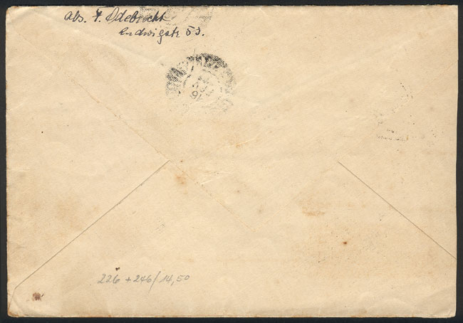 Lot 12 - germany postal history -  Guillermo Jalil - Philatino Auction #1946 WORLDWIDE POSTAL HISTORY, COVERS AND CARDS