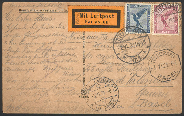 Lot 13 - germany postal history -  Guillermo Jalil - Philatino Auction #1946 WORLDWIDE POSTAL HISTORY, COVERS AND CARDS