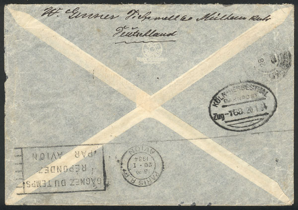 Lot 22 - germany postal history -  Guillermo Jalil - Philatino Auction #1946 WORLDWIDE POSTAL HISTORY, COVERS AND CARDS