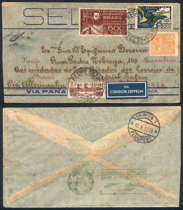 Lot 260 - brazil postal history -  Guillermo Jalil - Philatino Auction #1946 WORLDWIDE POSTAL HISTORY, COVERS AND CARDS